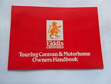 ELDDIS CARAVAN & MOTORHOME HANDBOOK MANUAL 1987 GTX CLUBMAN CRUSADER AUTOCIRRUS