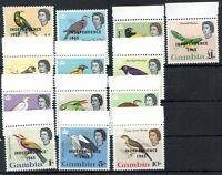 BRITISH GAMBIA BIRDS Yv#186/98 Complete Set MNH