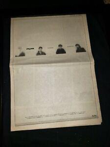 The Cure Seventeen Seconds Rare Original UK Tour Promo Poster Ad Framed!