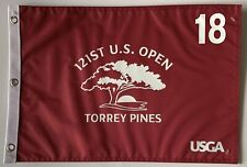 2021 U.S. open flag Torrey Pines golf red silkscreen pin flag jon rahm wins new
