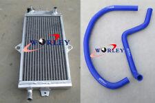 For SUZUKI Quadracer 250 LT250R 1985-1992 Aluminum Radiator & Silicone hose BLUE