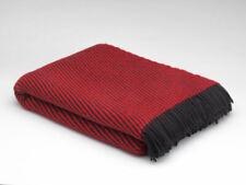 Large McNutt Z Red Irish Blanket Throw - Made in Ireland - 100% Wool