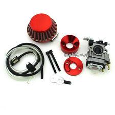 Red Carburetor Air Filter Vstack Pocket Bike Minimoto ATV Dirt Gas Scooter Moped