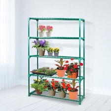 2x 5 Tier Plant Shelve Garden Greenhouse Steel Storage Shelving Frame Stand Rack