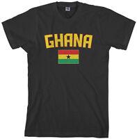 Threadrock Men's Ghana Flag T-shirt Ghanaian Accra Soccer