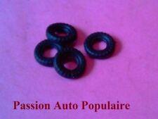 DINKY TOYS 138 : HILLMAN IMP four tires 12mm GB black / four tyres black