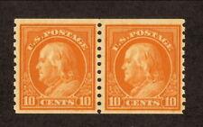 USA--#497 MNH--Benjamin Franklin Coil Pair--1922