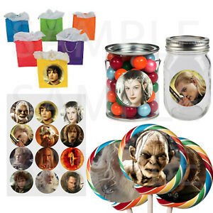 """Lord of the Rings 2.5"""" Stickers Favor Labels for DIY Gift Containers - 12 pcs"""