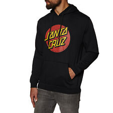 Santa Cruz Classic Dot Hoody Pullover - Black All Sizes