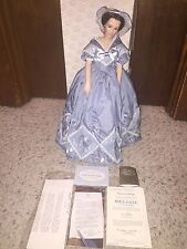 """Franklin Mint Melanie Porcelain Doll 19"""" Gone With The Wind RARE 1980 W/ COA TAG"""