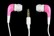 Stereo Earphone earbuds In-ear Headphone 3.5mm for Tablets Smartphones Pink NEW
