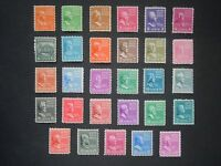 #803 - #831 1c thru 50c 1938 Presidential Issues MNH OG F/VF