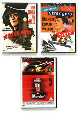 3 Hitchcock DVDs The Wrong Man / Strangers on a Train / Dial M for Murder SEALED