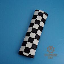 Qty1 Checkered Black White Interior Seatbelt Cover Shoulder Pad For MINI COOPER