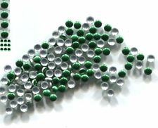 Round Smooth Nailheads 1.5mm  KIWI GREEN  Hot fix  1 gross