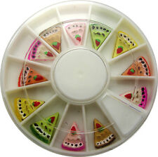 CAKE SLICE SHAPE IN WHEEL NAIL ART DECORATION DESIGN CRAFT NAILS 12 SLICES