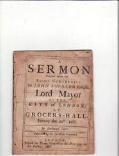1688-SERMON: Sir John Shorter Knight-NATHANAEL TAYLOR