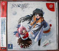 """SEGA Dreamcast DC """"SNOW"""" + OFFICIAL GUIDE AVG Free Shipping"""