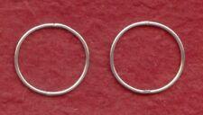 Sterling Silver Sleeper 20mm Earrings Hinged New Large thin hoops sleepers