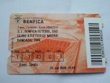 Ticket BENFICA LISBOA - ATLETICO MADRID 2009/10 Portugal Spain España