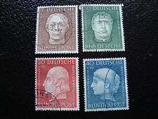 ALLEMAGNE RFA - timbre - Yvert et Tellier n° 76 a 79 obl (A1) stamp germany