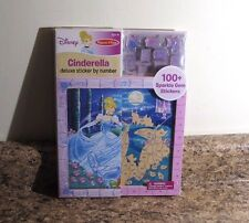 Melissa & Doug Disney Princess Cinderella Deluxe Sticker By Number Art New