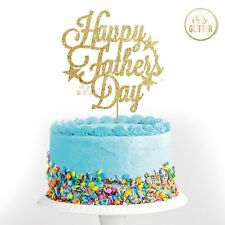 Happy Fathers Day cake topper, best dad, glitter custom personalised, customised