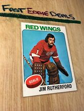 TOPPS HOCKEY 1975 JIM RUTHERFORD GOALIE CARD 219 DETROIT RED WINGS EXCELLENT