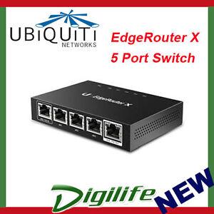 Ubiquiti EdgeRouter X 5 Ports Advanced Gigabit Ethernet Router POE ER-X-AU