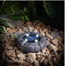 Stone Effect Fantastic Solar Power Ground Light Grey/Black LED Novelty Lights