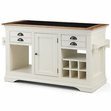 Paris cream painted furniture large granite top kitchen island unit worktop