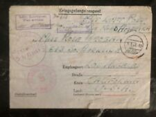 1943 Germany POW Camp Airmail Cover Stalag 9C USA Prisoner of War Robert Emery D