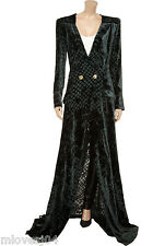 Vestido De Terciopelo Balmain largo vestido bata de terciopelo Burnout Nuevo BNWT 8 es 40 FR 36 £ 2552