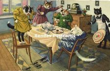 Dressed Cats, Panic about Mice during Breakfast (1953) Max Künzli 4678