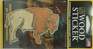 Buffalo Wood Sticker - Made In USA -