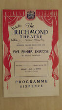 RICHMOND THEATRE 1960 : ROBIN RAY - MARY LAURA WOOD in FIVE FINGER EXERCISE