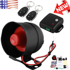 US Car Vehicle Burglar Alarm Keyless Entry Security Alarm System With 2 Remote