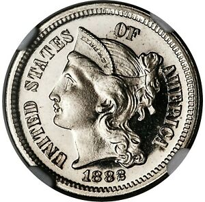 1882 3C Nickel PR67 Ultra Cameo