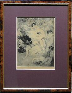 Norman Lindsay (1879-1969) 1918 Rare Original Etching The Poet's Revolt The Song