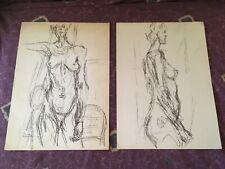 Two (2) Vintage Alberto Giacometti Prints Derriere Le Miroir 127
