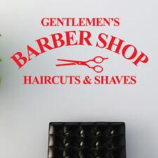 gentlemen's Barber Shop adhesivo pared Salón Peluquero adhesivo decorativo W205