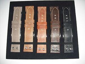 Eichmüller Microfaser-Leder Uhrenarmband Modell Ranger schwarz 22 mm
