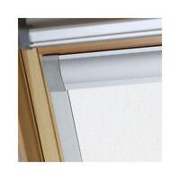 Blackout roof skylight blinds for Velux, Keylite, Fakro, Dakstra, colour WHITE