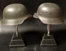 German Helmet Stahlhelm 1942 pattern TWO HELMETS TOGETHER both Film Props Large