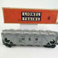 LIONEL Postwar 6446 N & W Norfolk and Western Cement Hopper Car, O