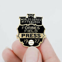 1927 Worlds Series Pittsburgh Forbes Enamel Press Promotional Pin Badge Button