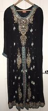 3 Piece Pakistani / Indian wedding dress In Black Size XL