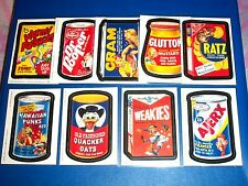 "2005 Wacky Packages All New Series2 (ANS2) Complete ""MAGNET"" Set 9/9 + 1 Wrapper"