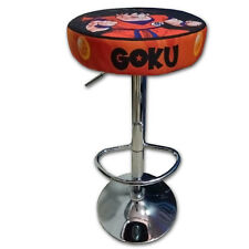 TABURETE ARCADE GOKU ACERO CROMADO REGULABLE ACOLCHADO RECREATIVA BARTOP