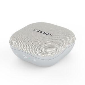 Sharp GX-BT60(GR) Grey 6W Splashproof Rechargeable Portable Bluetooth Speaker
